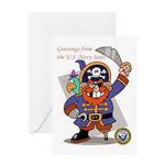 Pirates v. Seals Greeting Card