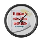 I Dont Support Murder Large Wall Clock