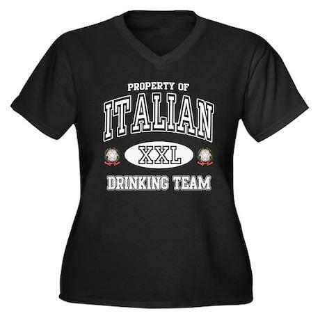 Italian Drinking Team Women's Plus Size V-Neck Dar