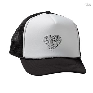 3beac444 Music Is Life Kids Trucker Hats - CafePress