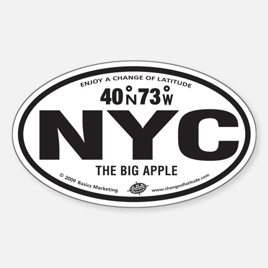 New York Destination Products Oval Decal