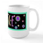 Pastel Peace Large Mug