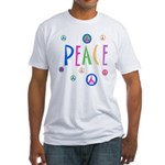 Pastel Peace Symbols Fitted T-Shirt