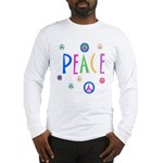 Pastel Peace Symbols Long Sleeve T-Shirt