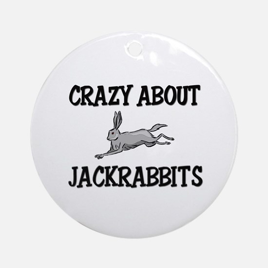 Crazy About Jackrabbits Ornament (Round)