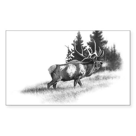 Elk Rectangle Sticker