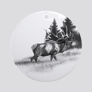 Elk Ornament (Round)