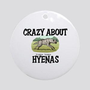 Crazy About Hyenas Ornament (Round)