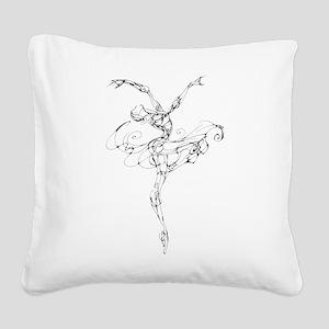 IB Ballerina Arch Square Canvas Pillow