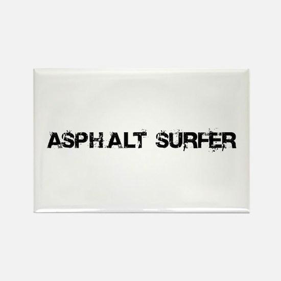 Asphalt Surfer Rectangle Magnet