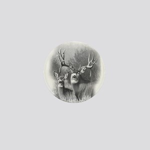 Mule Deer Mini Button