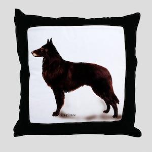 Belgian sheepdog portrait Throw Pillow