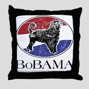 BoBAMA Throw Pillow