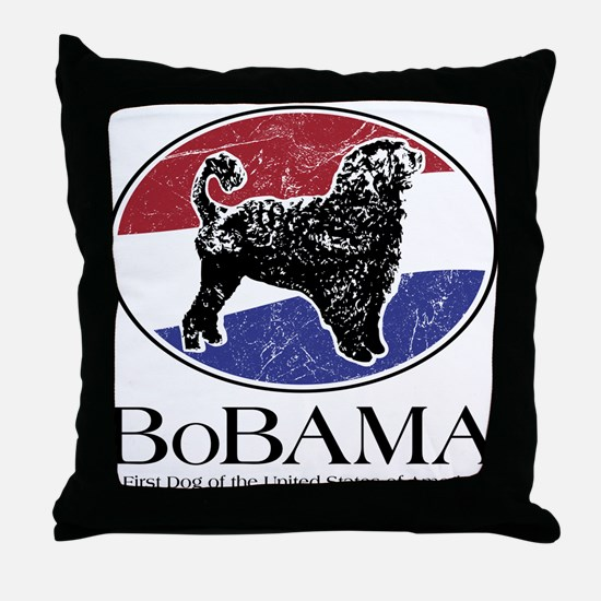BoBAMA Throw Pillow