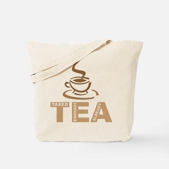Tea Party Taxed Enough Already Tote Bag