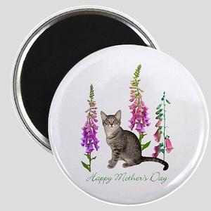 Cats in Foxglove Magnet