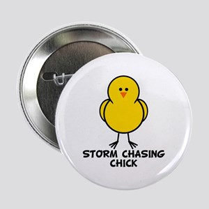 """Storm Chasing Chick 2.25"""" Button"""