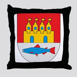 Oulu Coat of Arms Throw Pillow