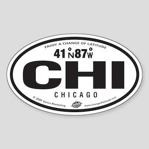 Chicago Destination Products Oval Sticker