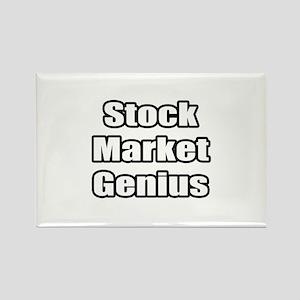 """Stock Market Genius"" Rectangle Magnet"