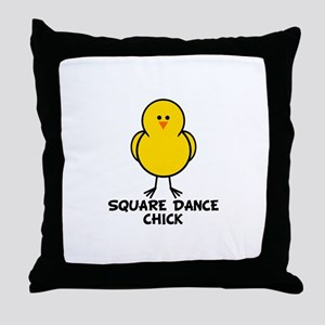 Square Dance Chick Throw Pillow