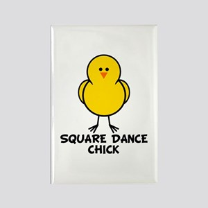 Square Dance Chick Rectangle Magnet
