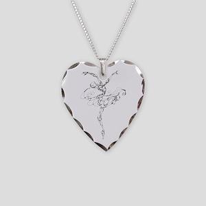 IB Ballerina Arch Necklace Heart Charm