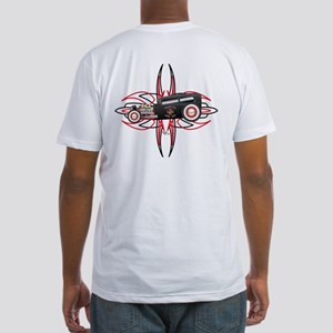 Pinstripe & Hot Rod Fitted T-Shirt