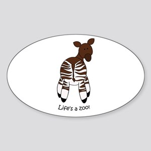 Okapi Oval Sticker