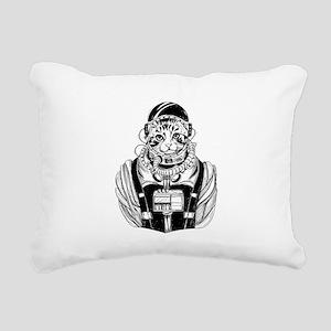 Cool Astronaut Cat Cute Rectangular Canvas Pillow