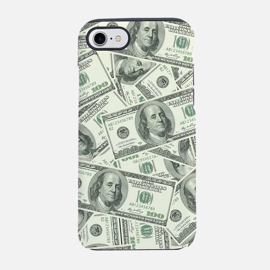 100 Dollar Bill Money Pattern iPhone 7 Tough Case