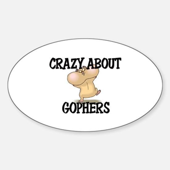 Crazy About Gophers Oval Decal