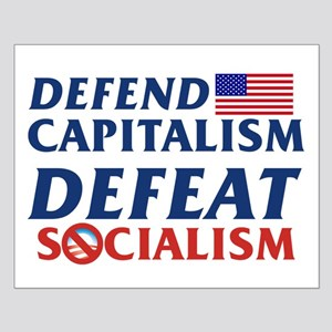 Defend Capitalism, Defeat Socialism Small Poster