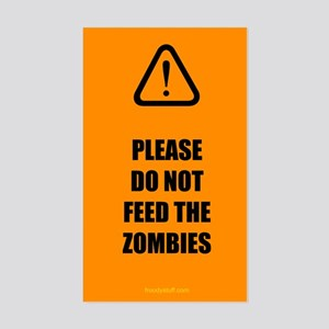Do Not Feed Zombies Sticker