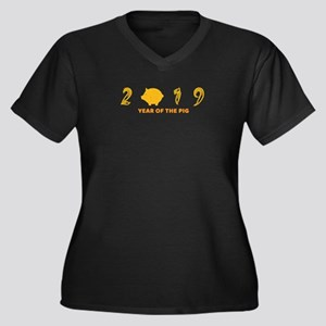 2019 YEAR OF THE PIG Plus Size T-Shirt