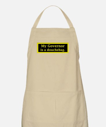My Governor is a Douchebag. BBQ Apron