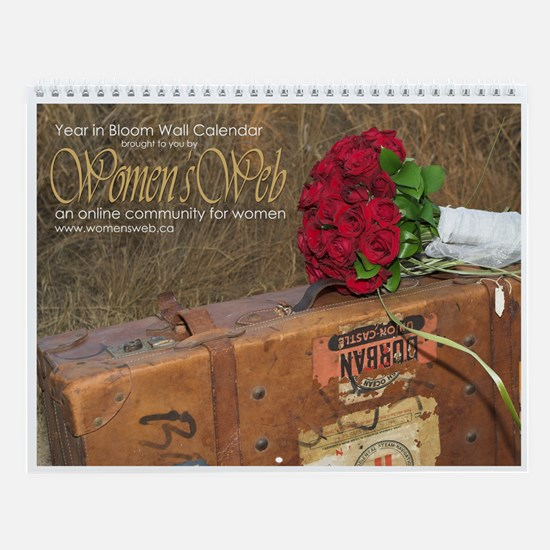 Women's Web Year in Bloom Wall Calendar