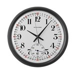 Howard Railroad Pocket Watch Large Wall Clock