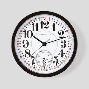 Hamilton Railroad Pocket Watch Wall Clock