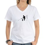 Barack Obama + Bo Running Women's V-Neck T-Shirt