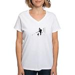 Barack Obama + Bo Running Women's V-Neck T-Shirt