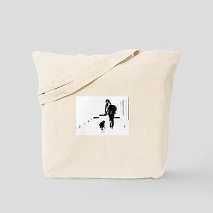 Barack Obama + Bo Running Tote Bag