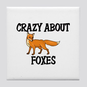 Crazy About Foxes Tile Coaster