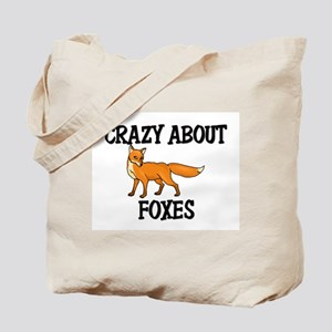 Crazy About Foxes Tote Bag