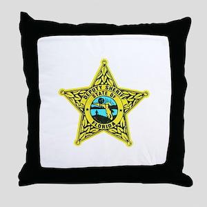Florida Sheriff Throw Pillow