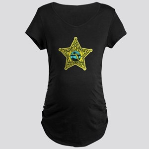 Florida Sheriff Maternity Dark T-Shirt
