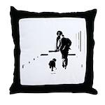 Barack Obama + Bo Running Throw Pillow