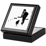 Barack Obama + Bo Running Keepsake Box