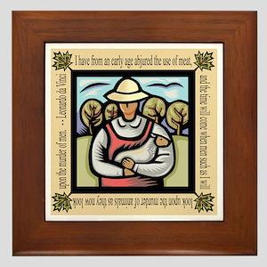 Vegetarian da Vinci Quote Framed Tile