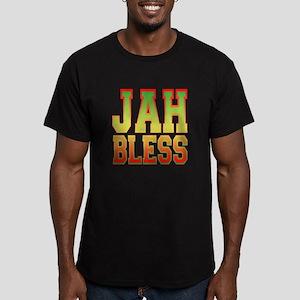 Jah Bless Men's Fitted T-Shirt (dark)